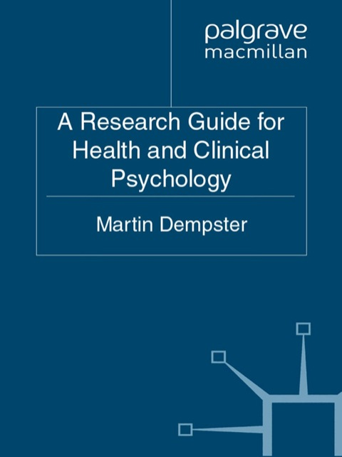 health and clinical psychology a Clinical health psychology specialty certification in clinical health psychology by the american board of clinical health psychology (abchp), a member specialty.