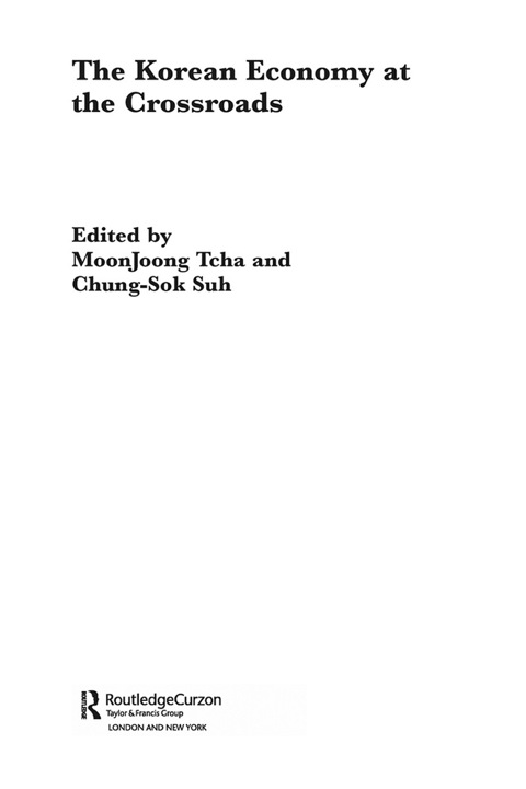 the korean economy at the crossroads suh chung sok tcha moon joong